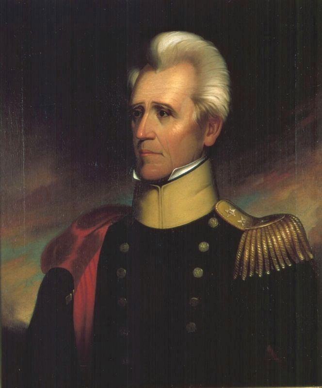 Portrait of General Andrew Jackson by Ralph E. W. Earl, (c.1837) image. Click for full size.