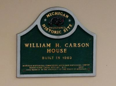 William H. Carson House Marker image. Click for full size.