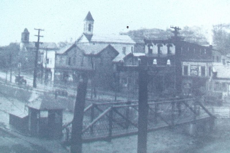 Lackawanna River Foot-Bridge Photo on Marker image. Click for full size.