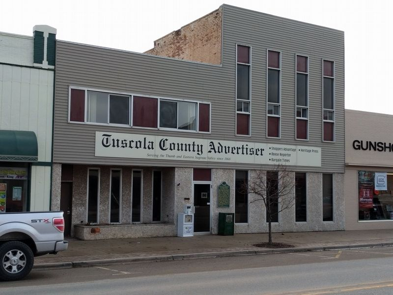 Tuscola County Advertiser and Marker image. Click for full size.