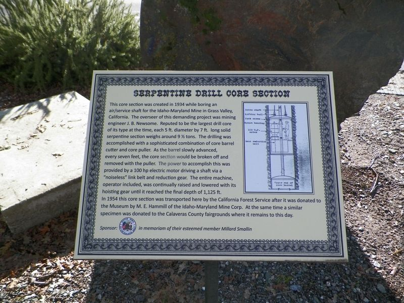 Serpentine Drill Core Section Marker image. Click for full size.