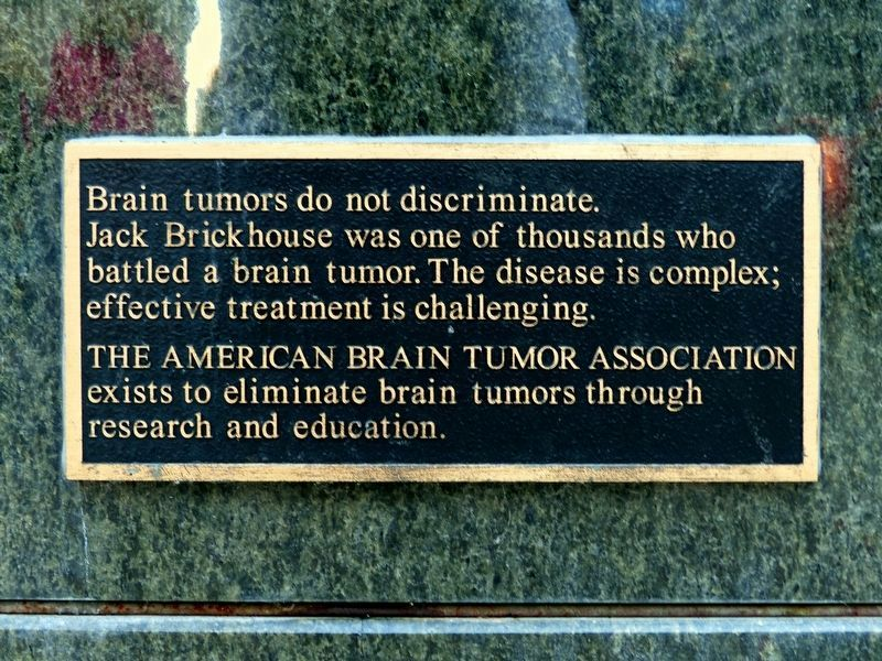 Brain Tumors do not discriminate image. Click for full size.