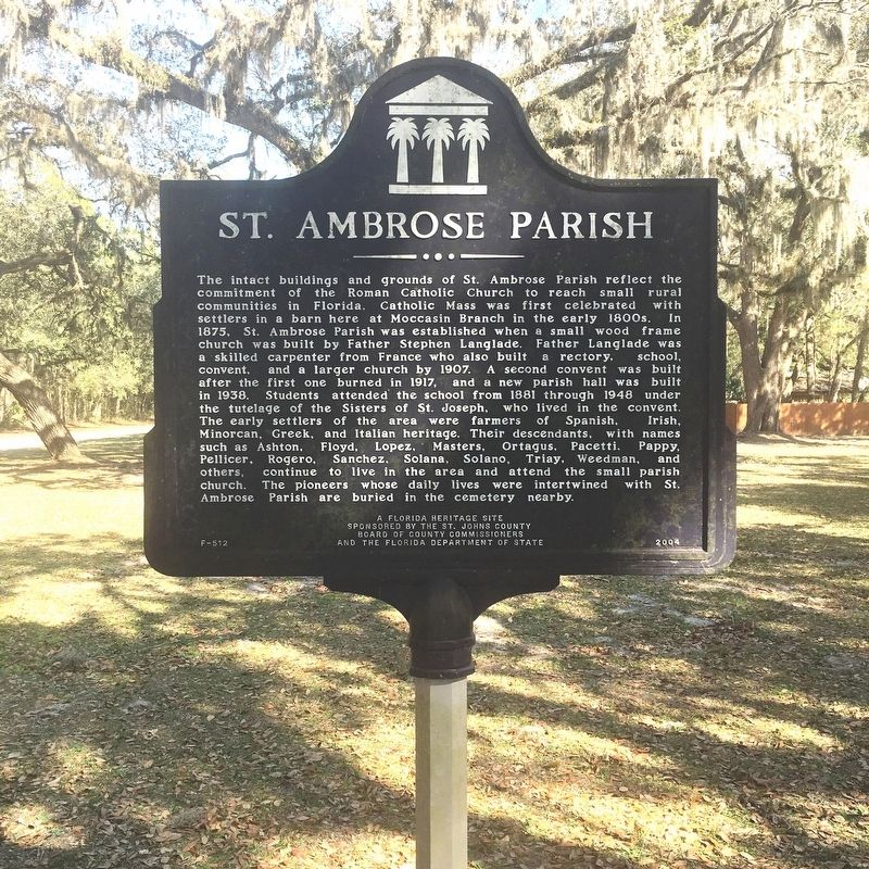 St. Ambrose Parrish Marker image. Click for full size.