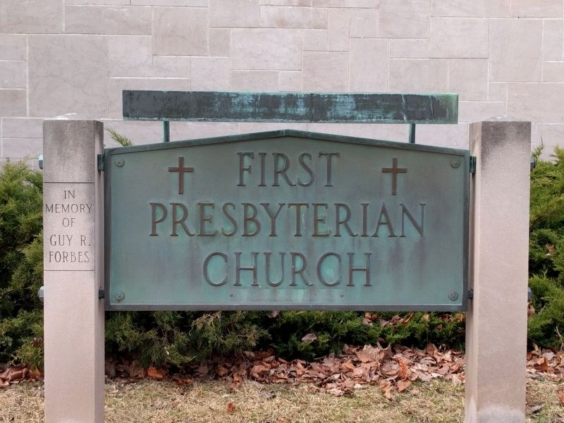 First Presbyterian Church of Caro Sign image. Click for full size.