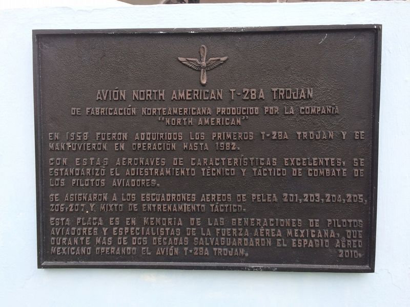 North American T-28A Trojan Marker image. Click for full size.