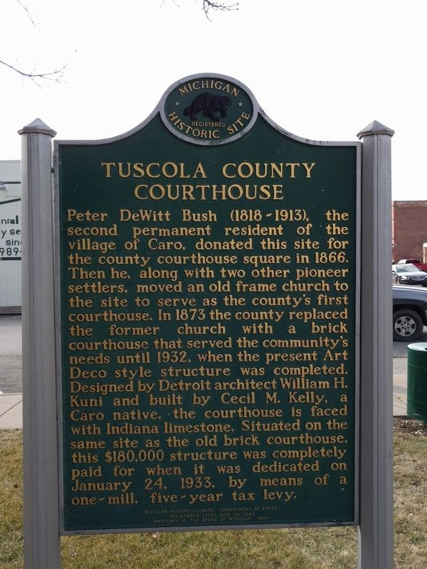 Tuscola County Courthouse Marker image. Click for full size.