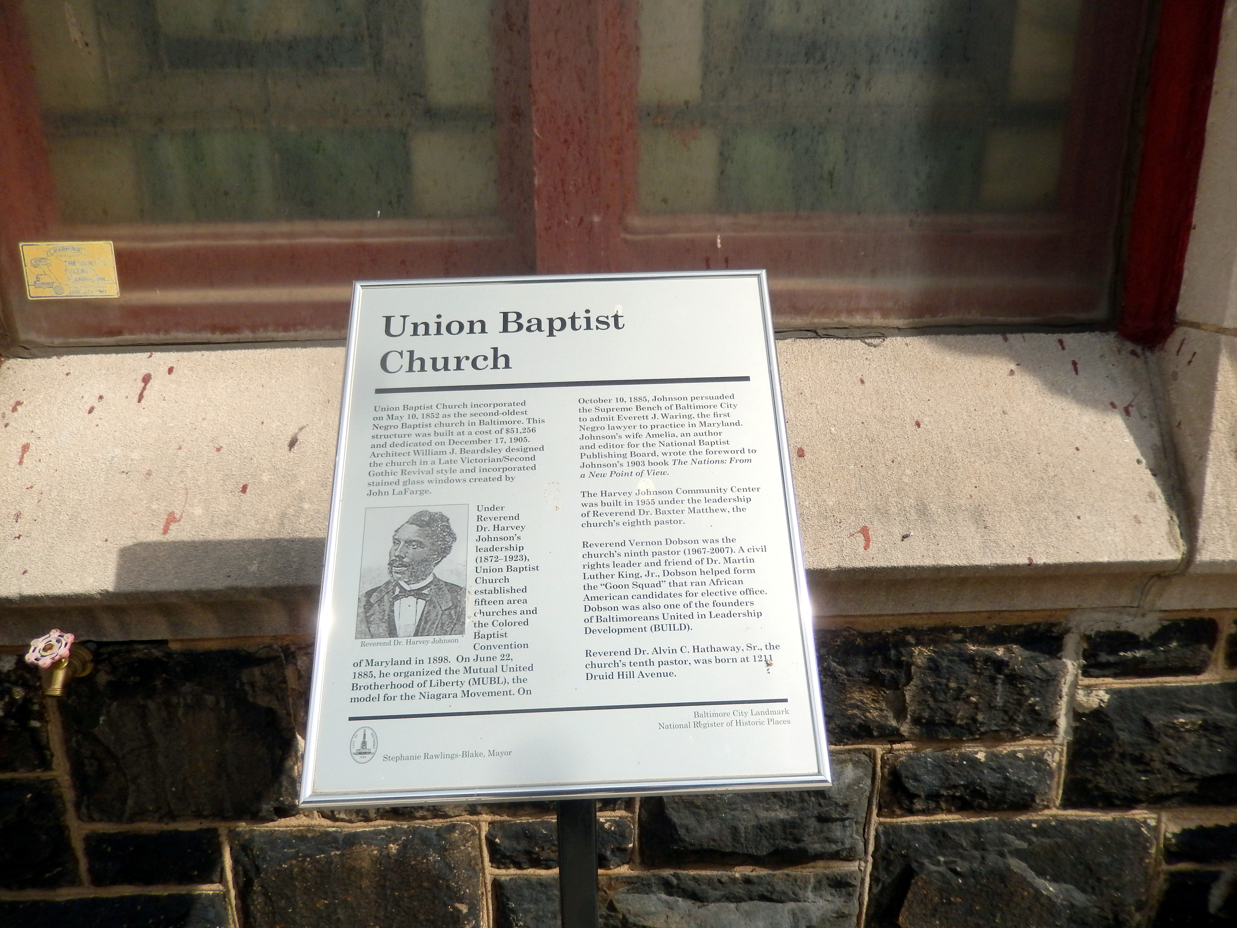 Union Baptist Church Marker