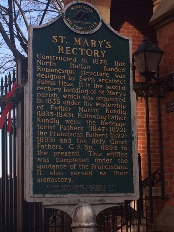 St. Mary's Rectory Marker image. Click for full size.