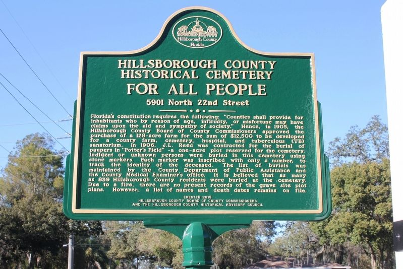 Hillsborough County Historical Cemetery For All People Marker image. Click for full size.
