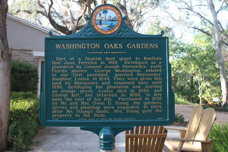 Washington Oaks Gardens Marker image. Click for full size.