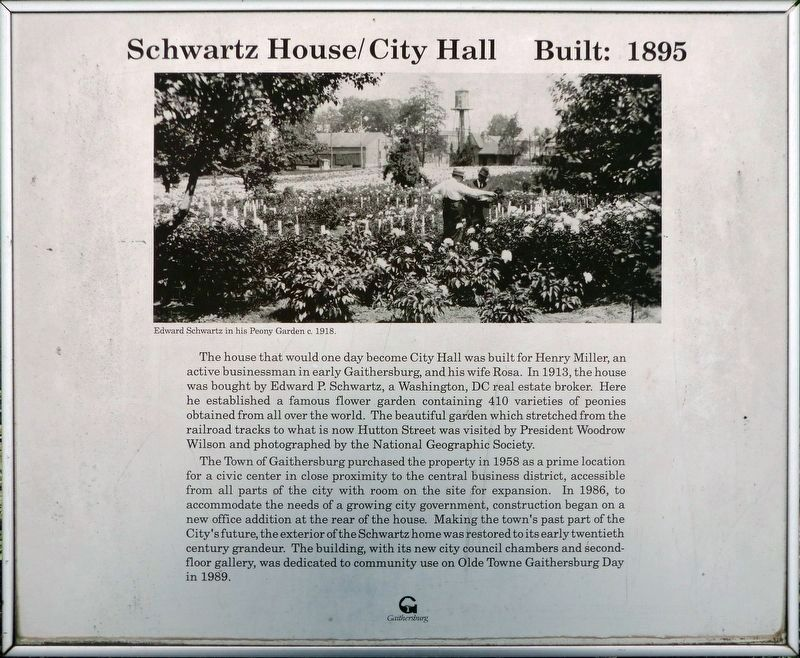 Schwartz House / City Hall Built 1895 Marker image. Click for full size.