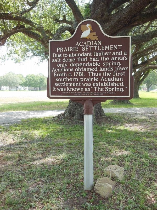 Acadian Prairie Settlement Marker (<b><i>tall view</b></i>) image. Click for full size.