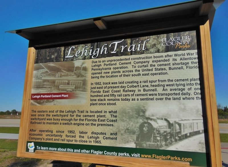 Lehigh Trail Marker image. Click for full size.