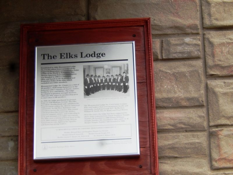 The Elks Lodge Marker image. Click for full size.