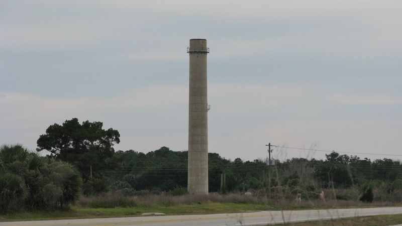 Former Portland Cement Plant Smokestack image. Click for full size.