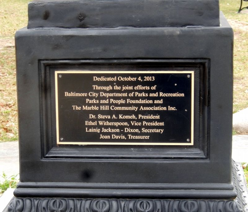 Rev. Dr. Vernon Nathaniel Dodson Memorial Marker-Left side Panel image. Click for full size.