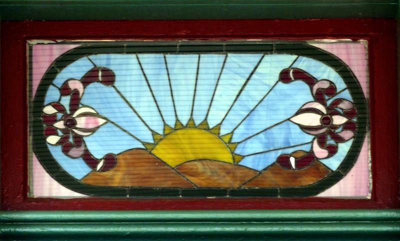 Stained-glass Window over the Front Door. image. Click for full size.