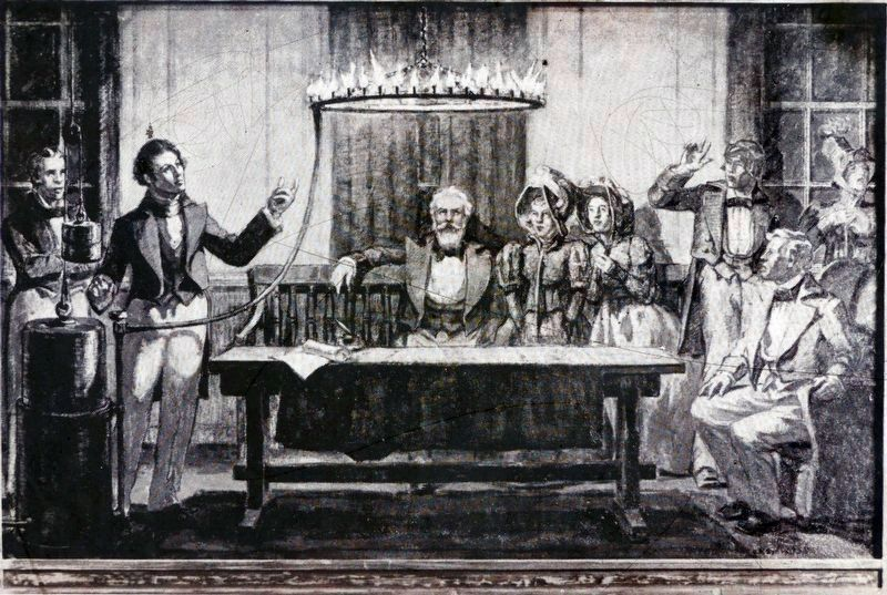 Peale's demonstration of Gas Lighting - 1833 by Robert McGill Mackall image. Click for full size.