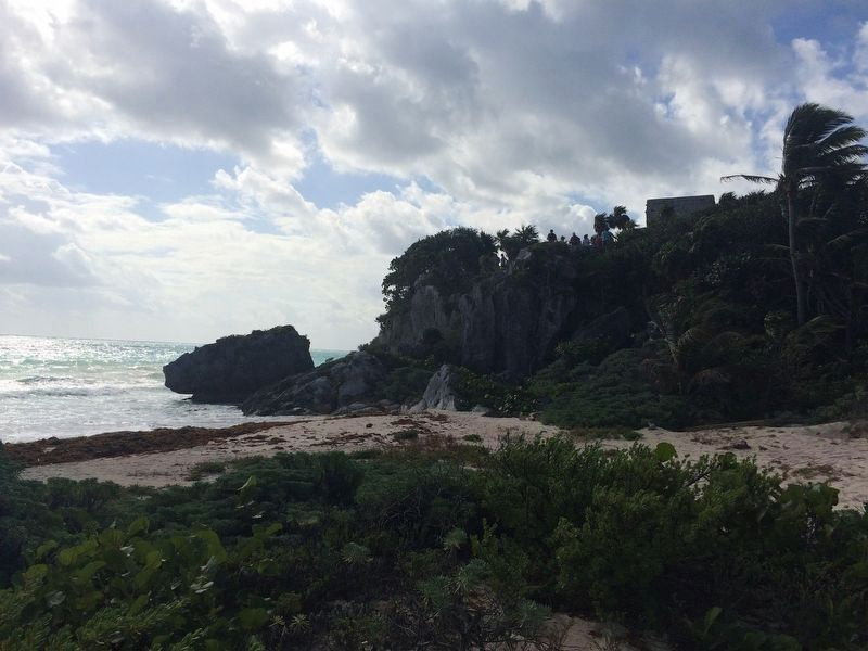 Possible location of the port at Tulum near the marker image. Click for full size.