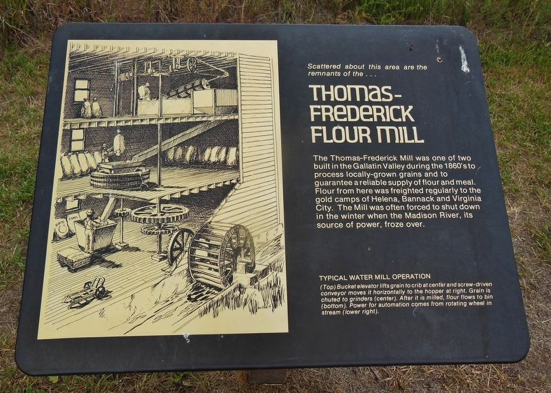 Thomas-Frederick Flour Mill Marker image. Click for full size.