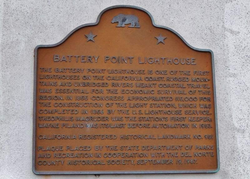 Battery Point Lighthouse Marker image. Click for full size.