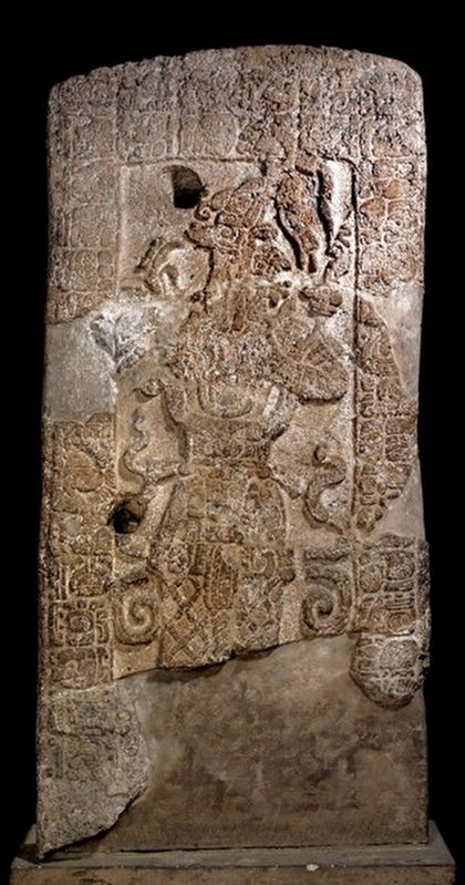 Stela 1 at the British Museum, CC BY-SA 4.0 image. Click for full size.