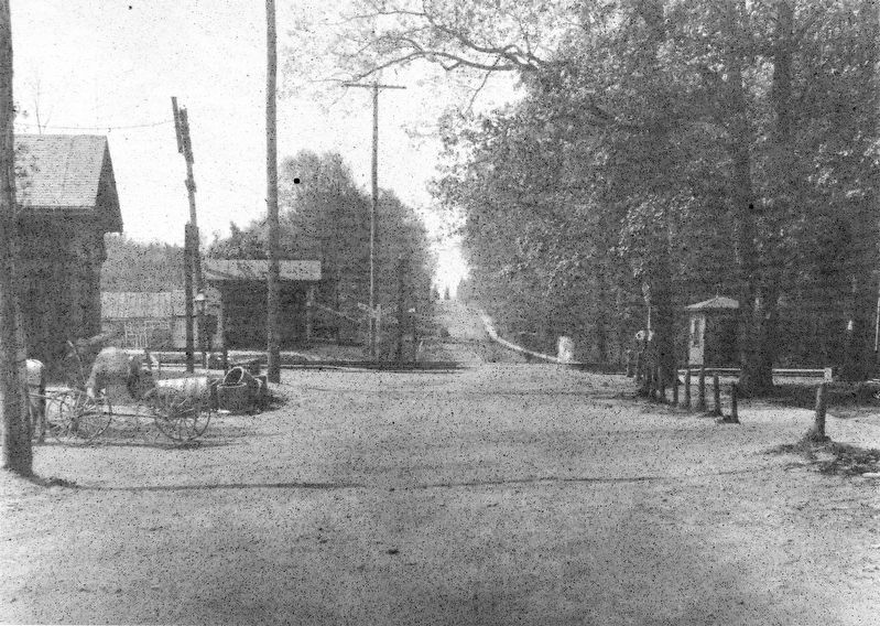 A view down Summit Avenue towards Frederick Avenue, circa 1900 image. Click for full size.