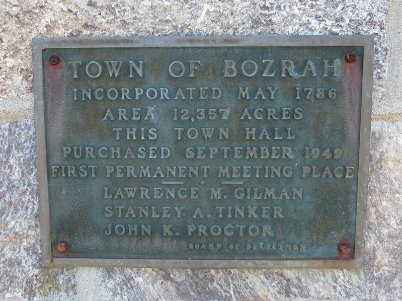 Town of Bozrah Marker image. Click for full size.