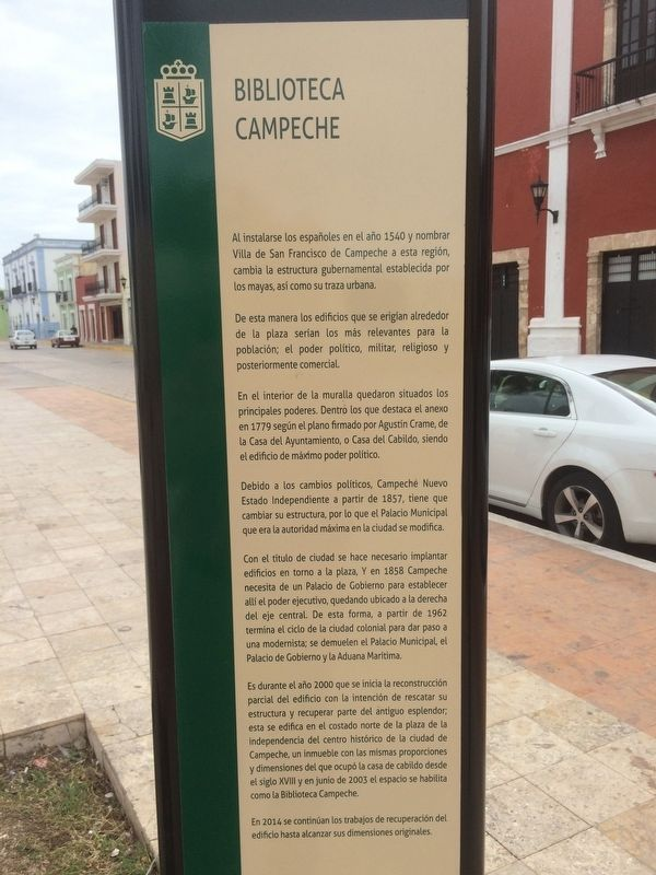Campeche Library Marker image. Click for full size.