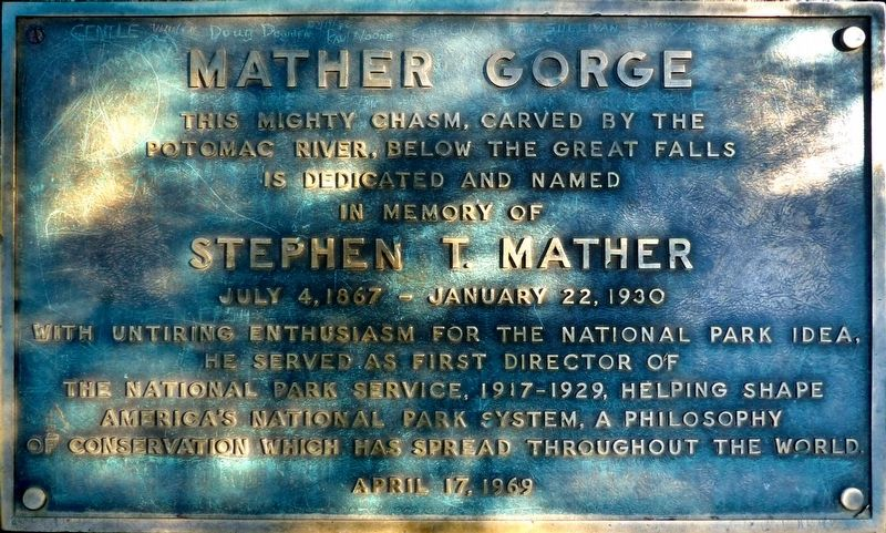 Mather Gorge Marker image. Click for full size.