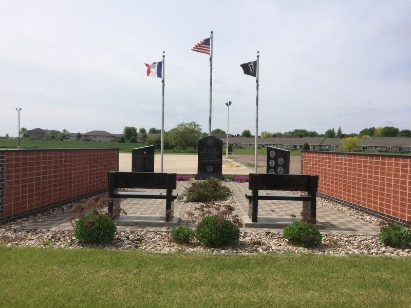 Hartley Iowa Veterans' Memorial Marker image. Click for full size.