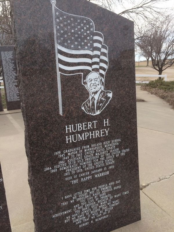 Hubert H. Humphrey Marker image. Click for full size.