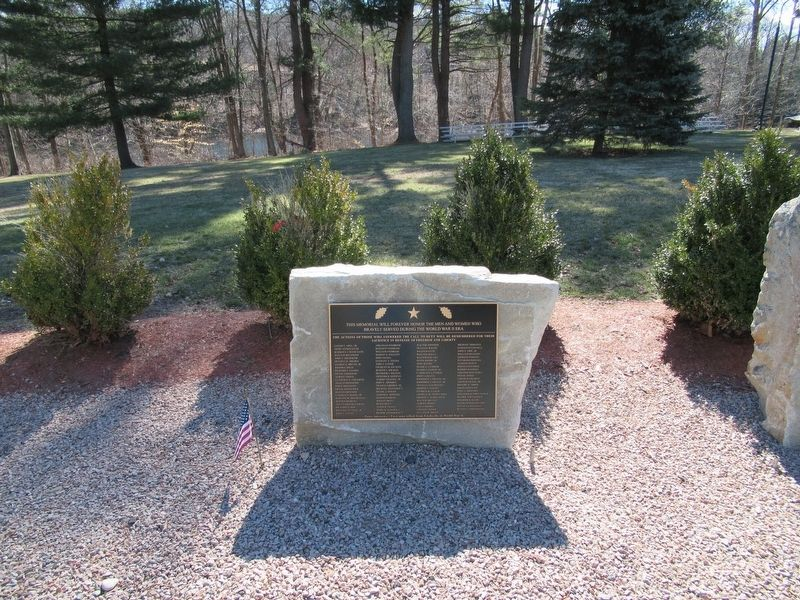 Bozrah World War II Monument image. Click for full size.