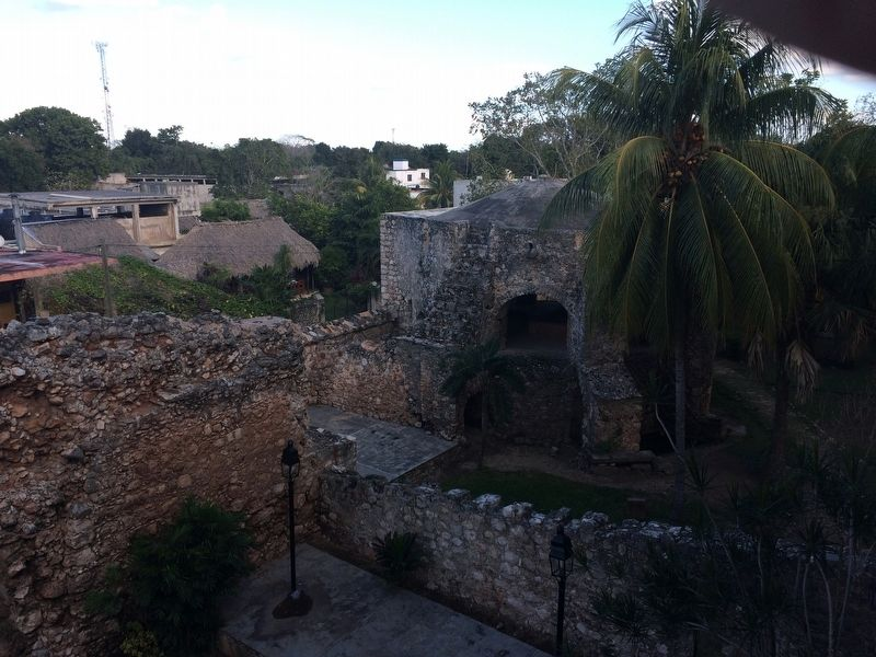 An additional view of the arched dome over the waterwheel and cenote. image. Click for full size.