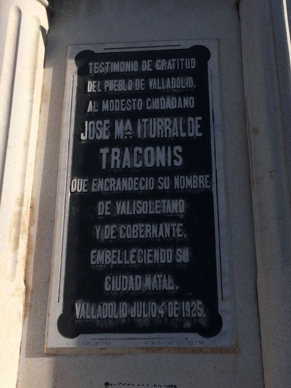 Nearby marker to José María Iturralde Traconis image. Click for full size.