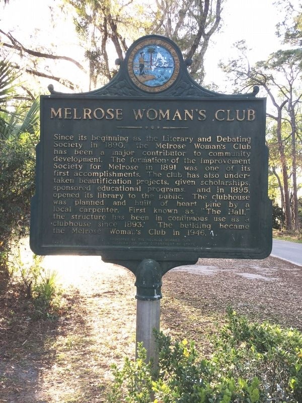 Melrose Woman's Club Marker image. Click for full size.
