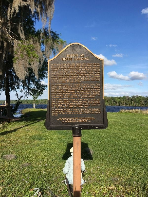 Battle of Horse Landing Marker image. Click for full size.