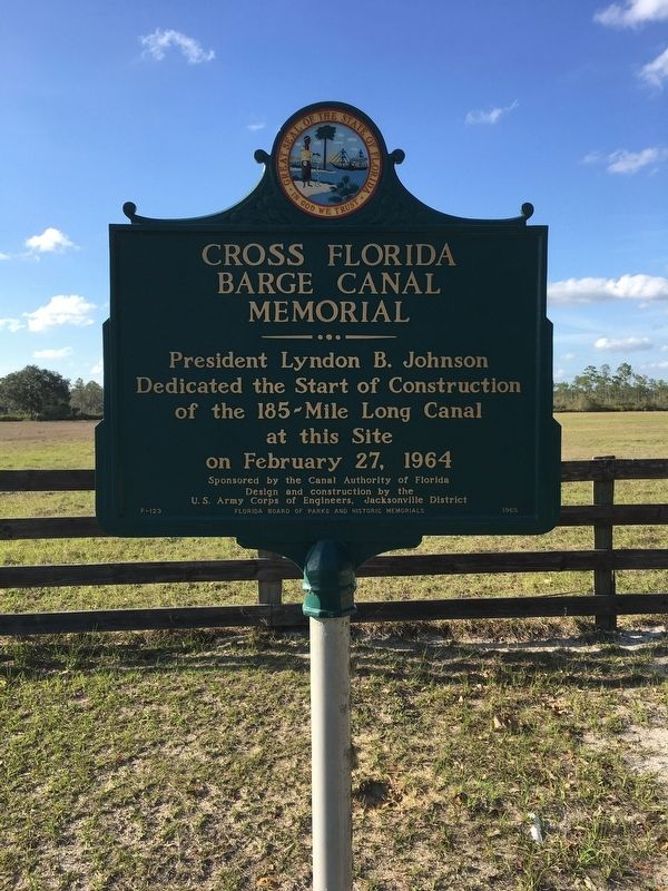 Cross Florida Barge Canal Memorial Marker image. Click for full size.