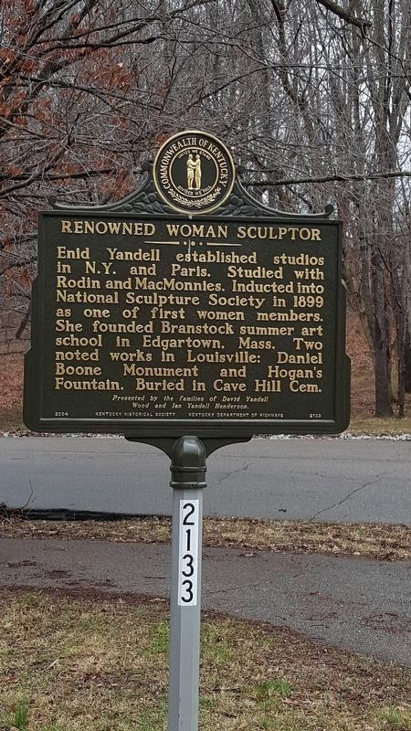 Renowned Woman Sculptor Marker image. Click for full size.