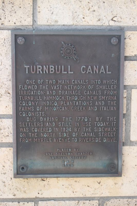 Turnbull Canal Marker image. Click for full size.