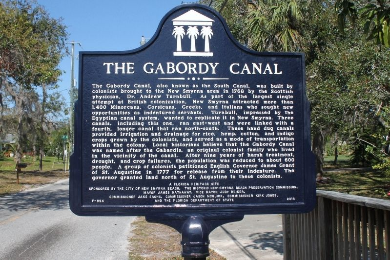 The Gabordy Canal Marker image. Click for full size.