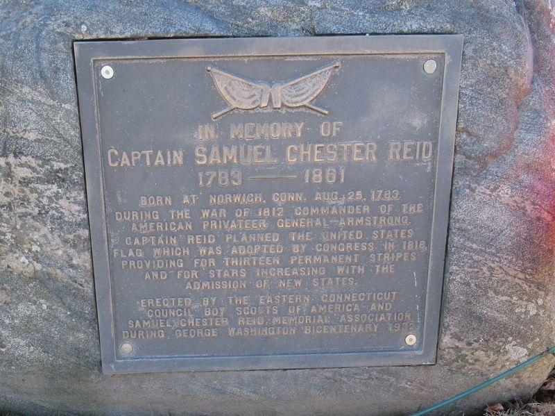 In Memory of Captain Samuel Chester Reid Marker image. Click for full size.
