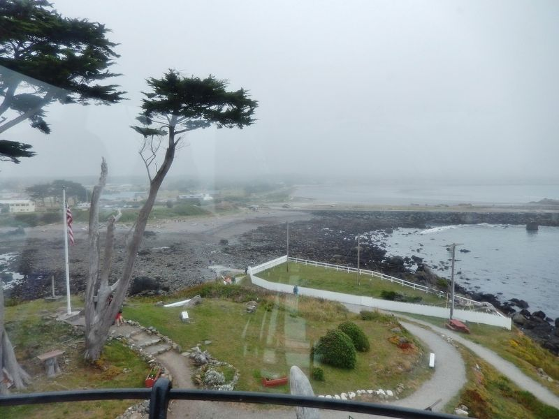 View of Crescent City from Battey Point Lighthouse Tower image. Click for full size.