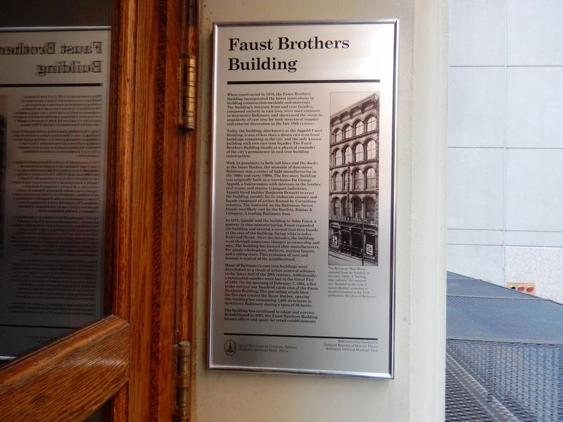 Faust Brothers Building Marker image. Click for full size.