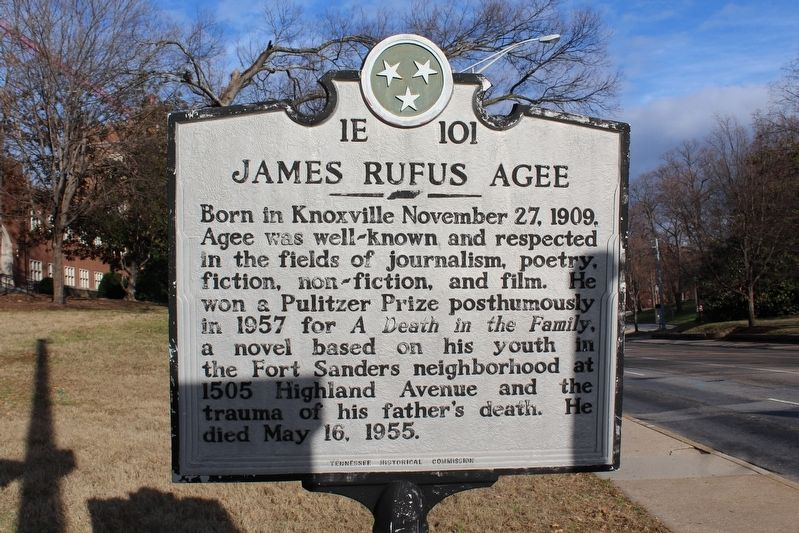 James Rufus Agee Marker image. Click for full size.