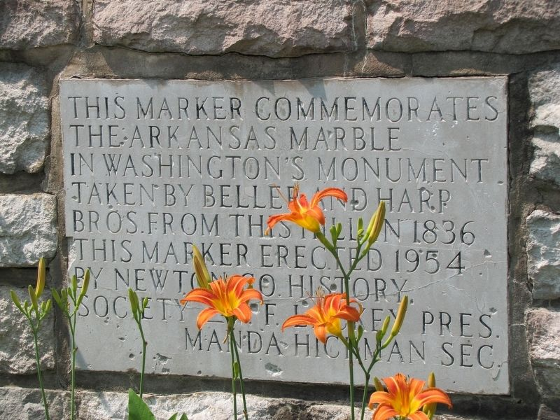Arkansas Marble in Washington's Monument Marker image. Click for full size.