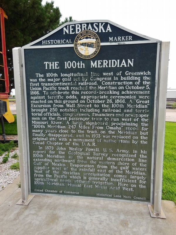 The 100th Meridian Marker image. Click for full size.
