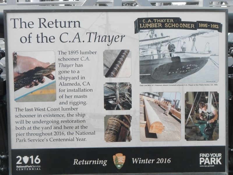 The Return of the <i>C.A. Thayer</i> Marker image. Click for full size.