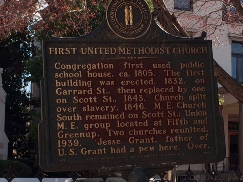 First United Methodist Church Marker (Side A) image. Click for full size.