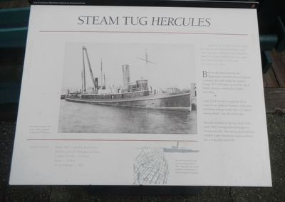 Steam Tug <i>Hercules</i> Marker image. Click for full size.
